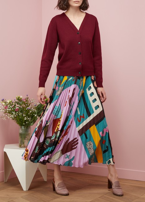 Valentino Counting 6 pleated skirt