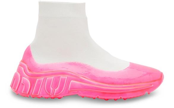MIU MIUNeon sock sneakers