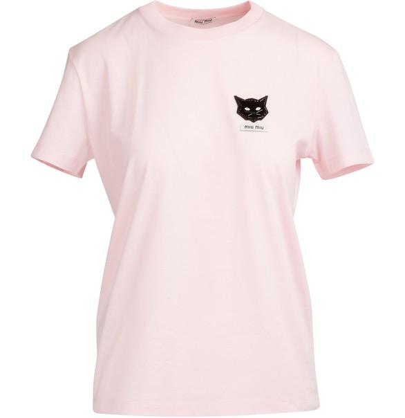 Cats Patch T Shirt by Miu Miu