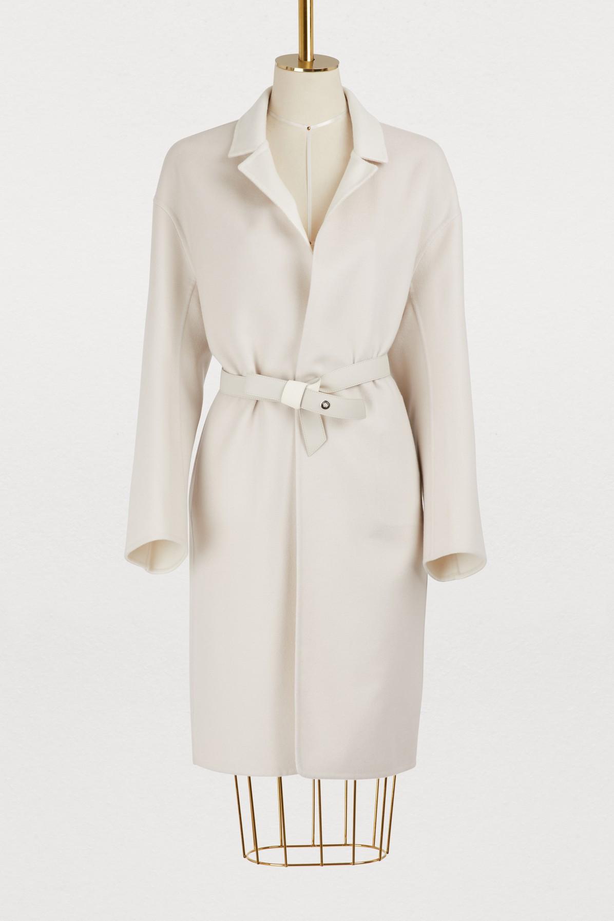 Manteau en cachemire réversible avec ceinture