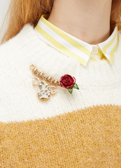 Dolce & GabbanaBroches roses et léopard