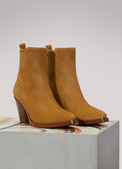 SartoreLeather Western ankle boots