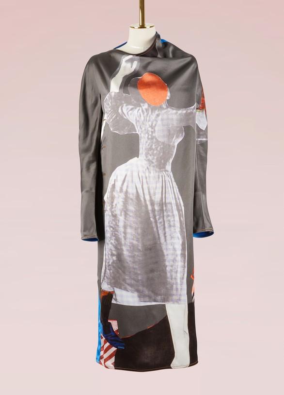MarniLong sleeves printed dress