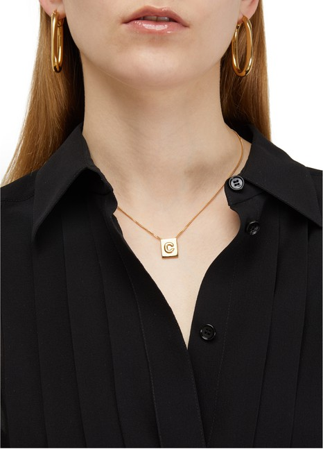 CELINE Alphabet C necklace in  brass with gold finish