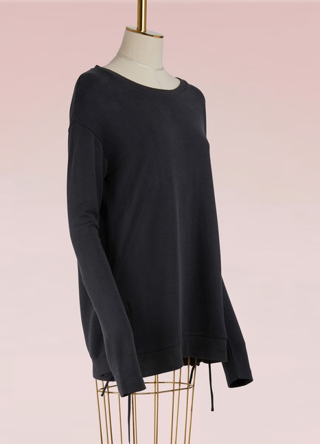 Majestic Filatures Cotton Cupro Sweater with String Details