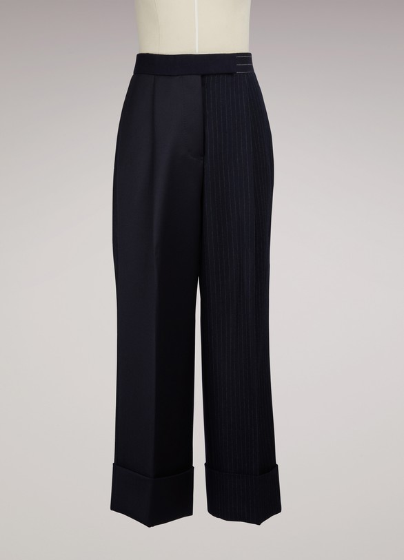 Thom BrowneCropped Melton Wool Pants