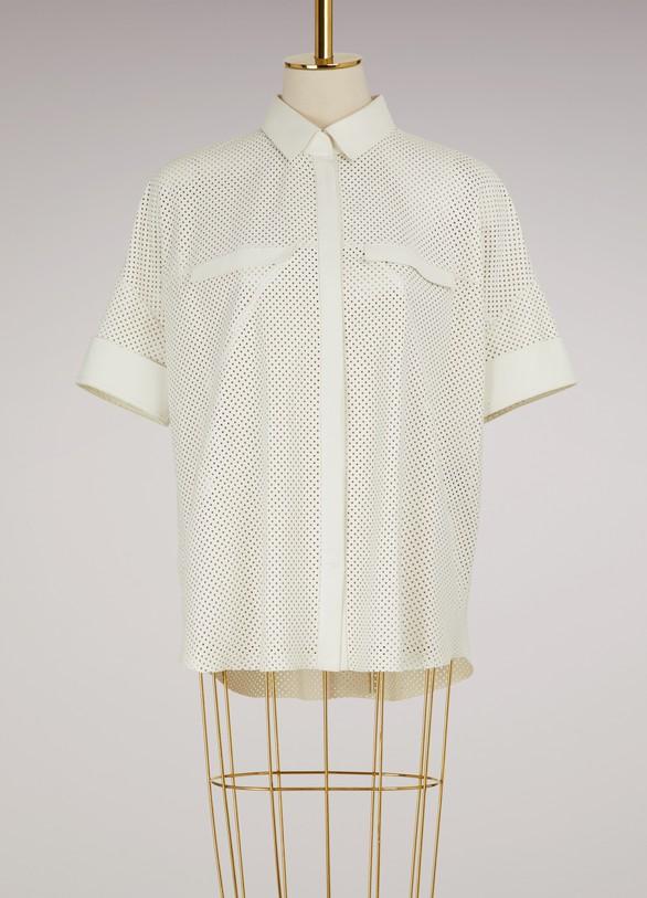 Maison UllensLamb leather shirt