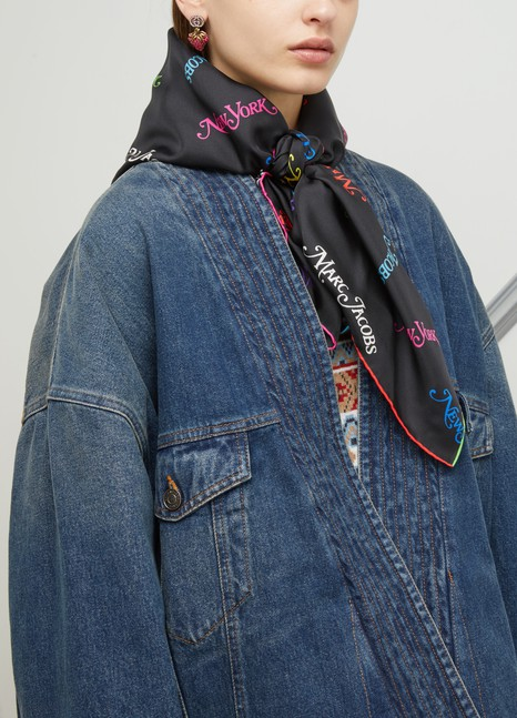 """MARC JACOBS""""Marc Jacobs New York Sq"""" scarf"""
