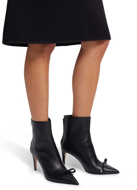 RED VALENTINOBow leather ankle boots