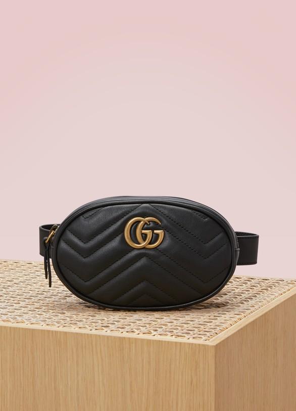 GucciGG Marmont Matelassé Leather Belt Bag