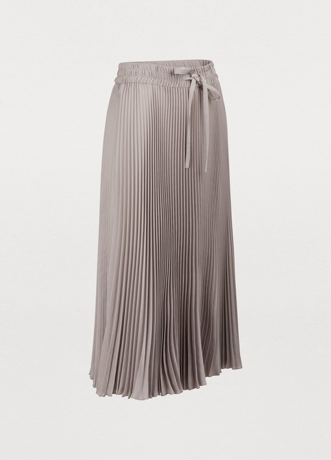 RED VALENTINO Long pleated skirt