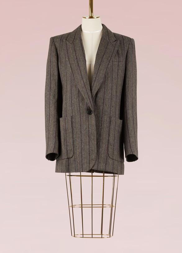 Isabel Marant Linen and Virgin Wool Kern Jacket