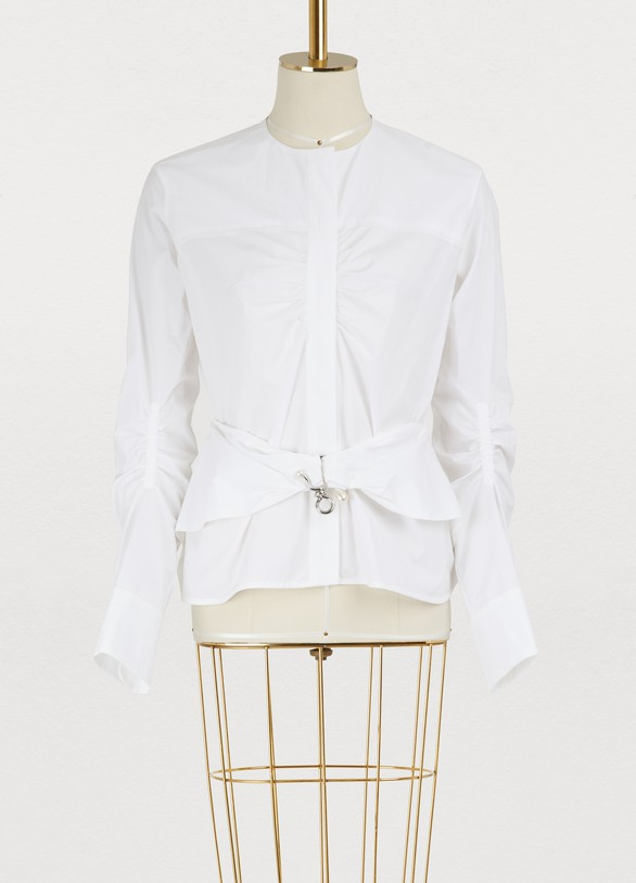 CarvenCotton shirt with belt