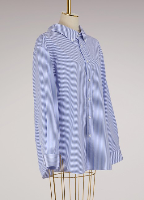 Balenciaga Swing collar oversized shirt