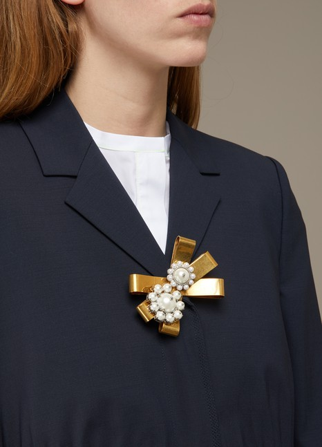 Miu MiuPearls brooch