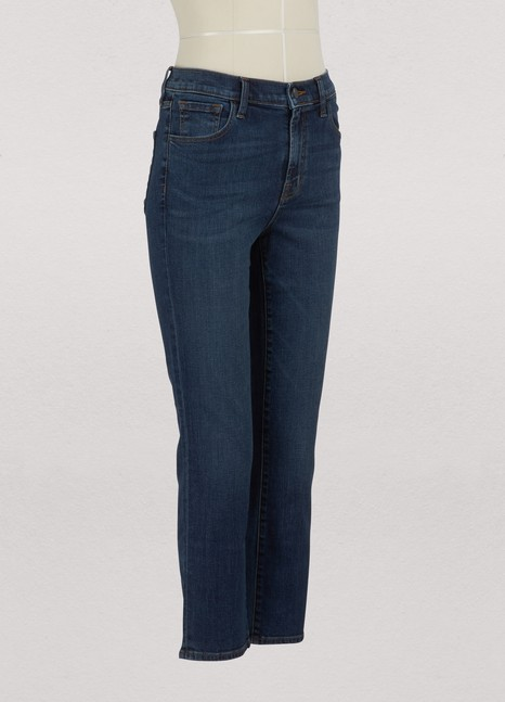 J Brand Ruby high-waisted cropped cigarette jeans