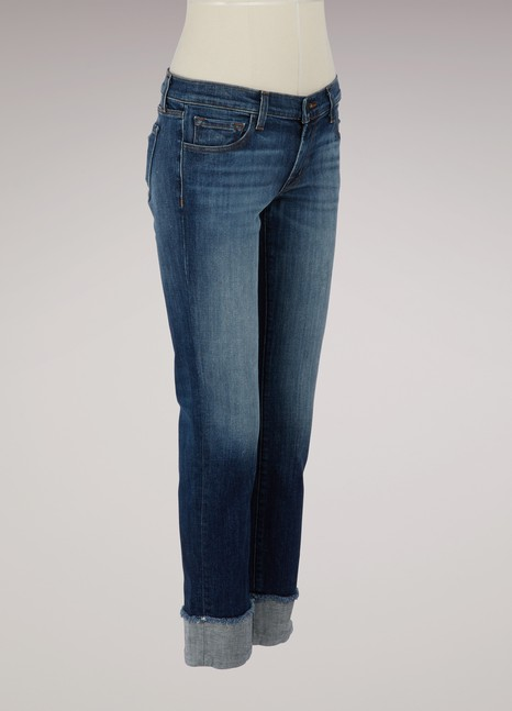 J Brand Hipster low-rise straight leg jeans