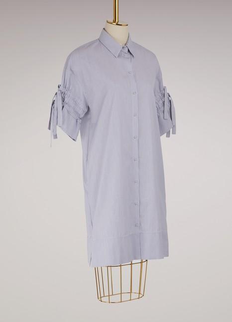 Victoria Victoria BeckhamRobe chemise à manches froncées