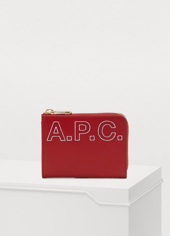 A.P.C.Portefeuille Lise en cuir