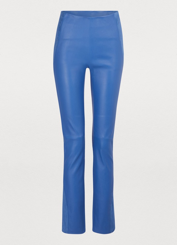 Maison Ullens Leather stretch pant