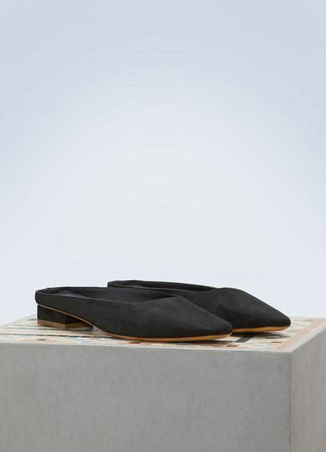 Mansur GavrielSuede leather mules