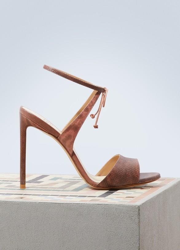 Francesco RussoSatin karung sandals
