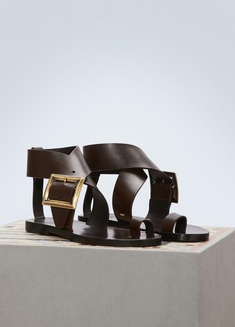 Maison MargielaBuckle sandals