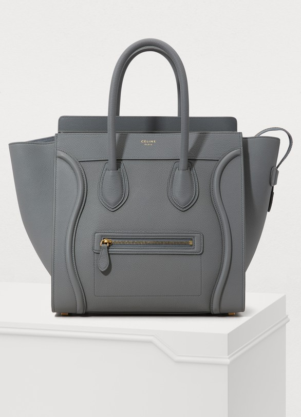 9cd9ada699 Women s Mini Luggage handbag in drummed calfskin
