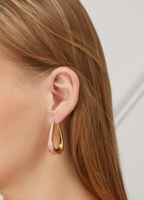 Annelise MichelsonEllipse enamel-detail earrings