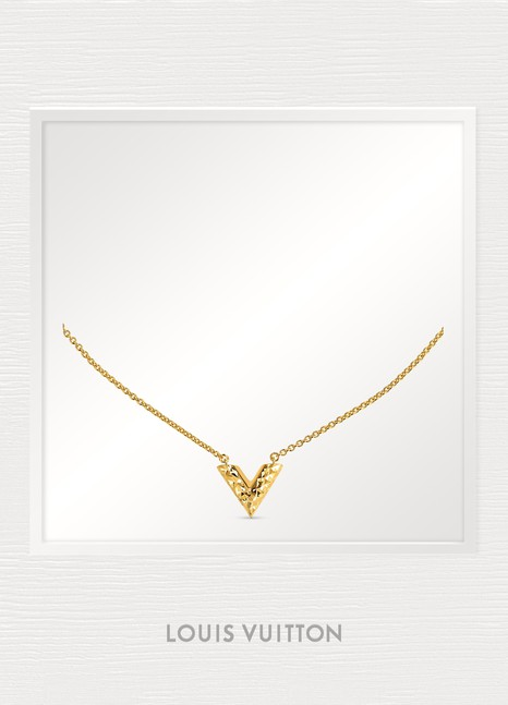 e02c7f7896d5 Louis Vuitton Essential V Guilloché Necklace