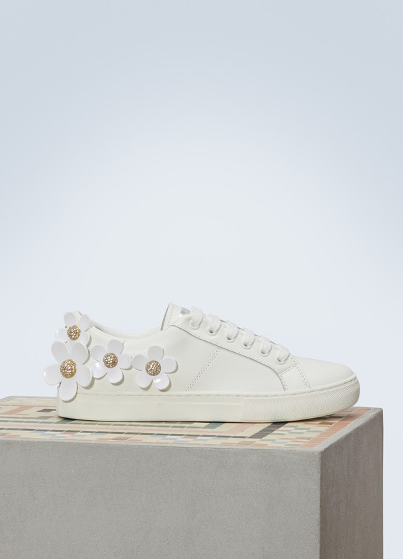 f97ef61b0ac Marc Jacobs Daisy leather sneakers