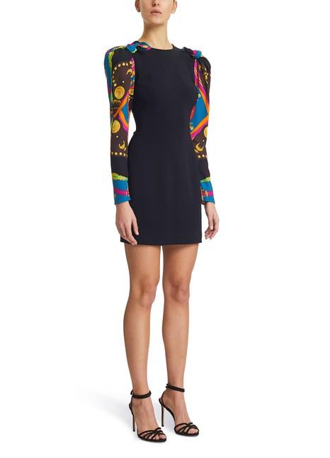 VERSACEShort dress with printed sleeves