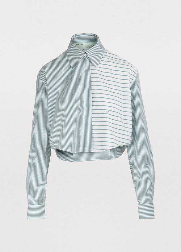 15a11597dba311 Off White Cropped striped shirt