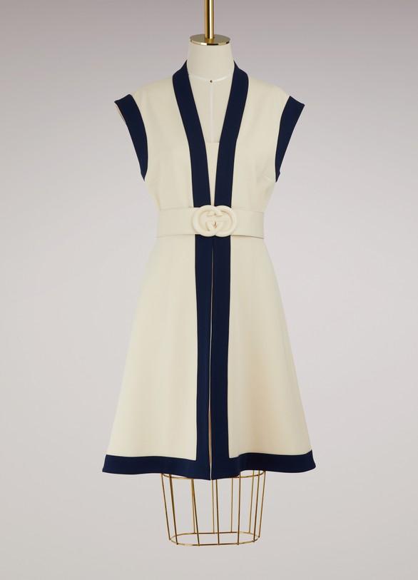 GucciViscose jersey dress with GG belt