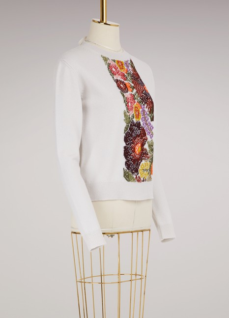Barrie Embroidered Cashmere Sweater