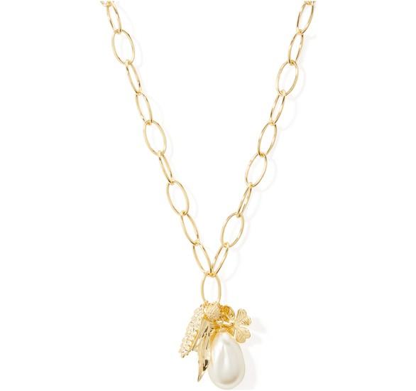 AURELIE BIDERMANNGrigri pearl and charm necklace