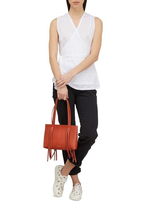 MANSUR GAVRIELVegetable-tanned leather mini Fringe bag