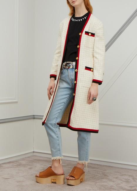 GUCCISylvie tweed coat
