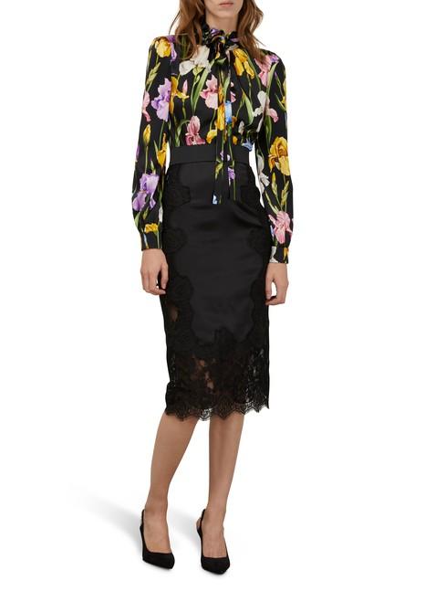 DOLCE & GABBANALace silk skirt