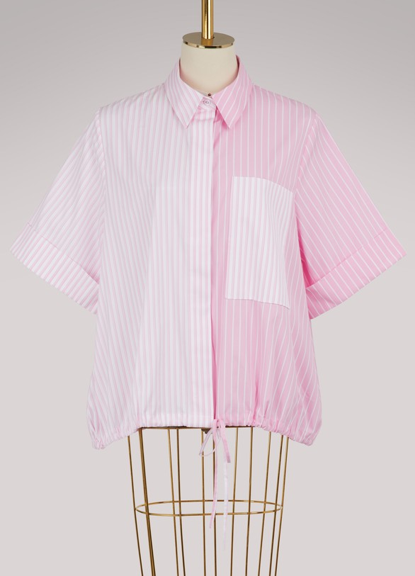 Victoria Victoria Beckham Striped short-sleeved shirt