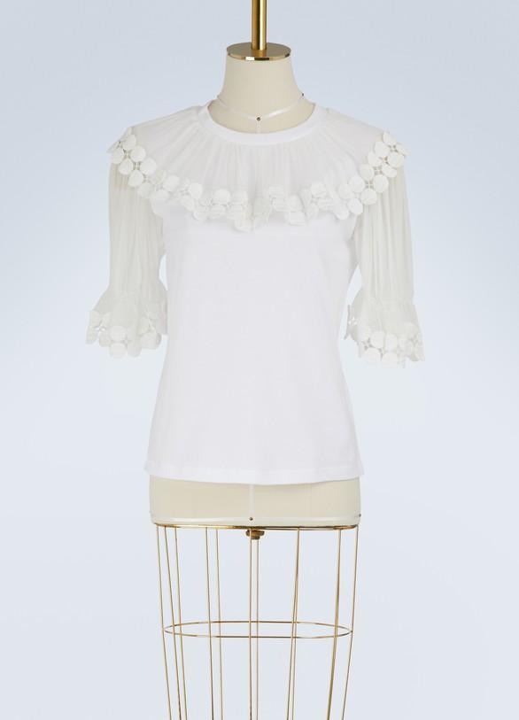 ChloéRuffled t-shirt