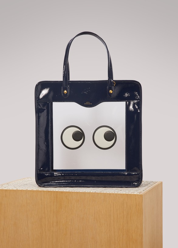 Anya HindmarchEyes leather rainy day tote bag