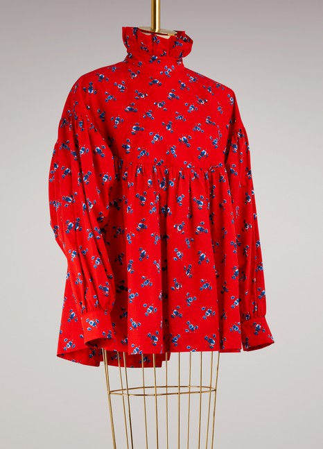 Kenzo Blouse May Flowers en coton