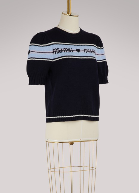 Miu Miu Logo wool sweater