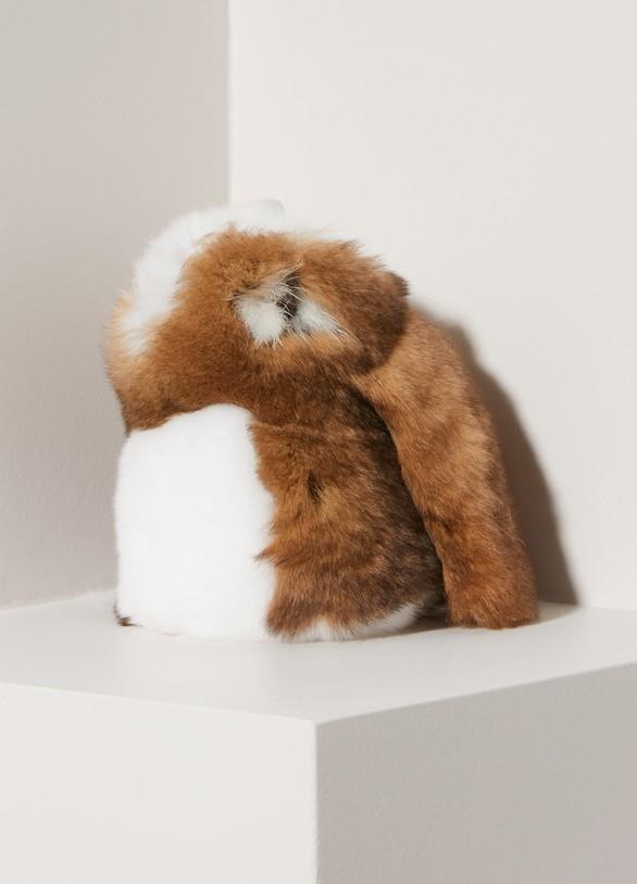 Loro Piana Rabbit mink fur keychain 56057d17c761