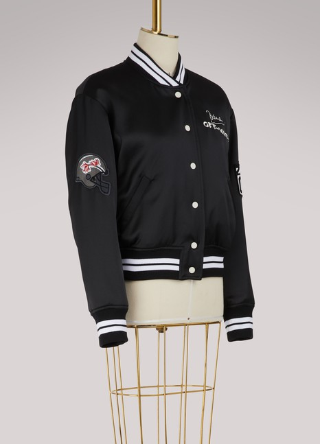 Off White Embroidered varsity jacket