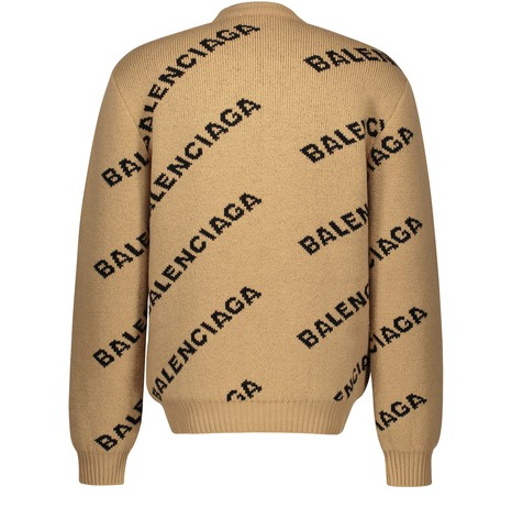 BALENCIAGA Allover Logo wool jumper