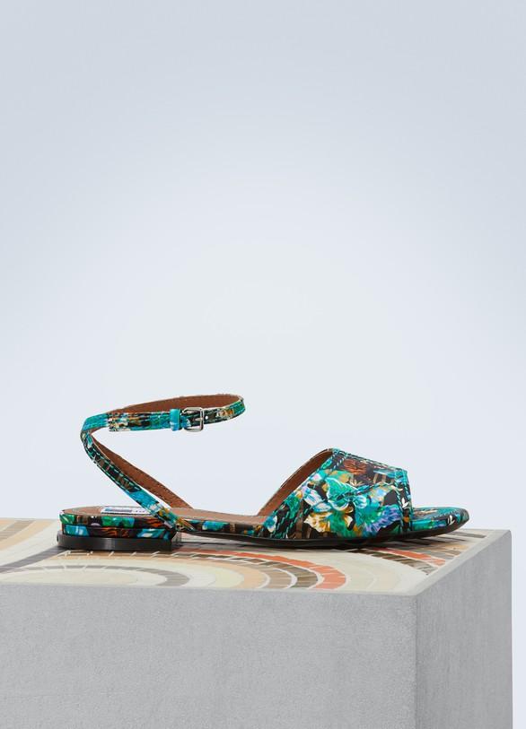 KenzoLeather flat Daria sandals