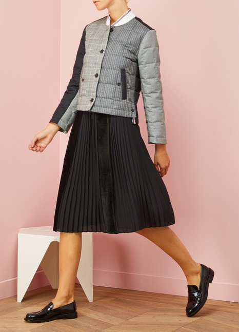 Thom BrowneButtoned Woolen Down Jacket