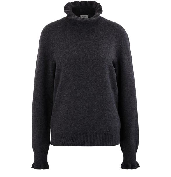 CELINEFrilled roll-neck sweatshirt
